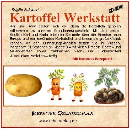 kartoffel werkstatt arbeitsbl228tter grundschule sachkunde